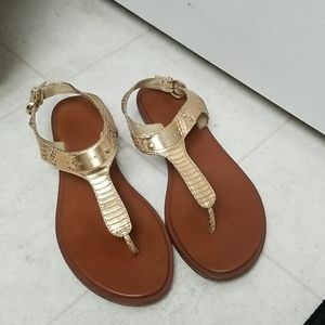 MICHAEL KORS leather T-Strap thong sandals